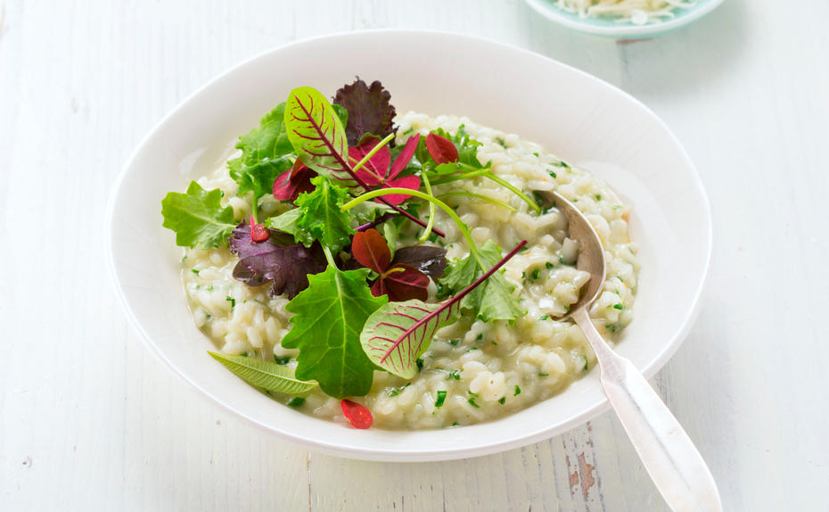 Green Superfood: Wildkräuter-Risotto